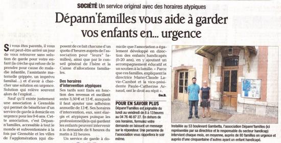 Dépann'familles dans la presse